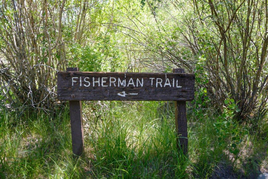 Gull Lake Trail, Fisherman trail split