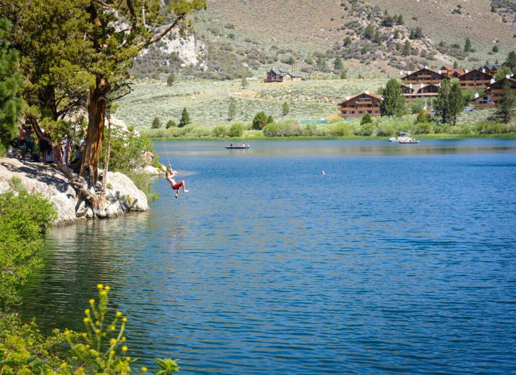 Gull Lake Trail, Rope Swing